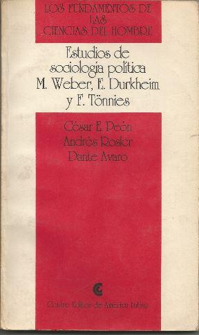 Durkheim y el inicio del WS